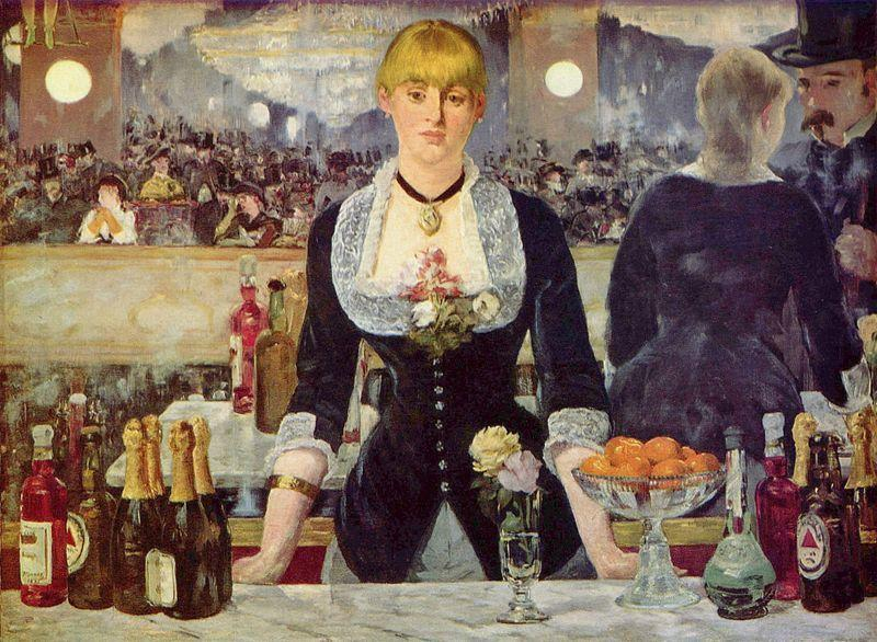 While Not One Of Manets More Famous Paintings This Work Is Still Certainly Recognizable It Pictures A Woman Barmaid At Its Namesake